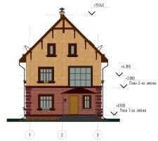 Фасад 1-3. Главный фасад