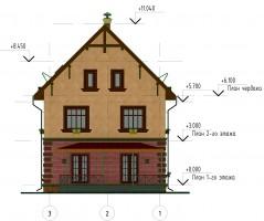 Фасад 3-1. Дворовой (задний) фасад
