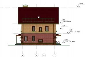 Фасад А-Г. Правый фасад